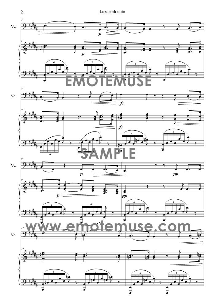 All Music Chords star wars cello sheet music : Leave Me Alone (Lasst mich allein) (Dvorak) | Emotemuse